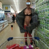 kinky aged nudist flashing her tits and pussy in a lidl store #6_thumb