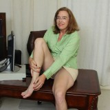 kinky american mature wife exposing her panties and wet slit inside her home office #10_thumb