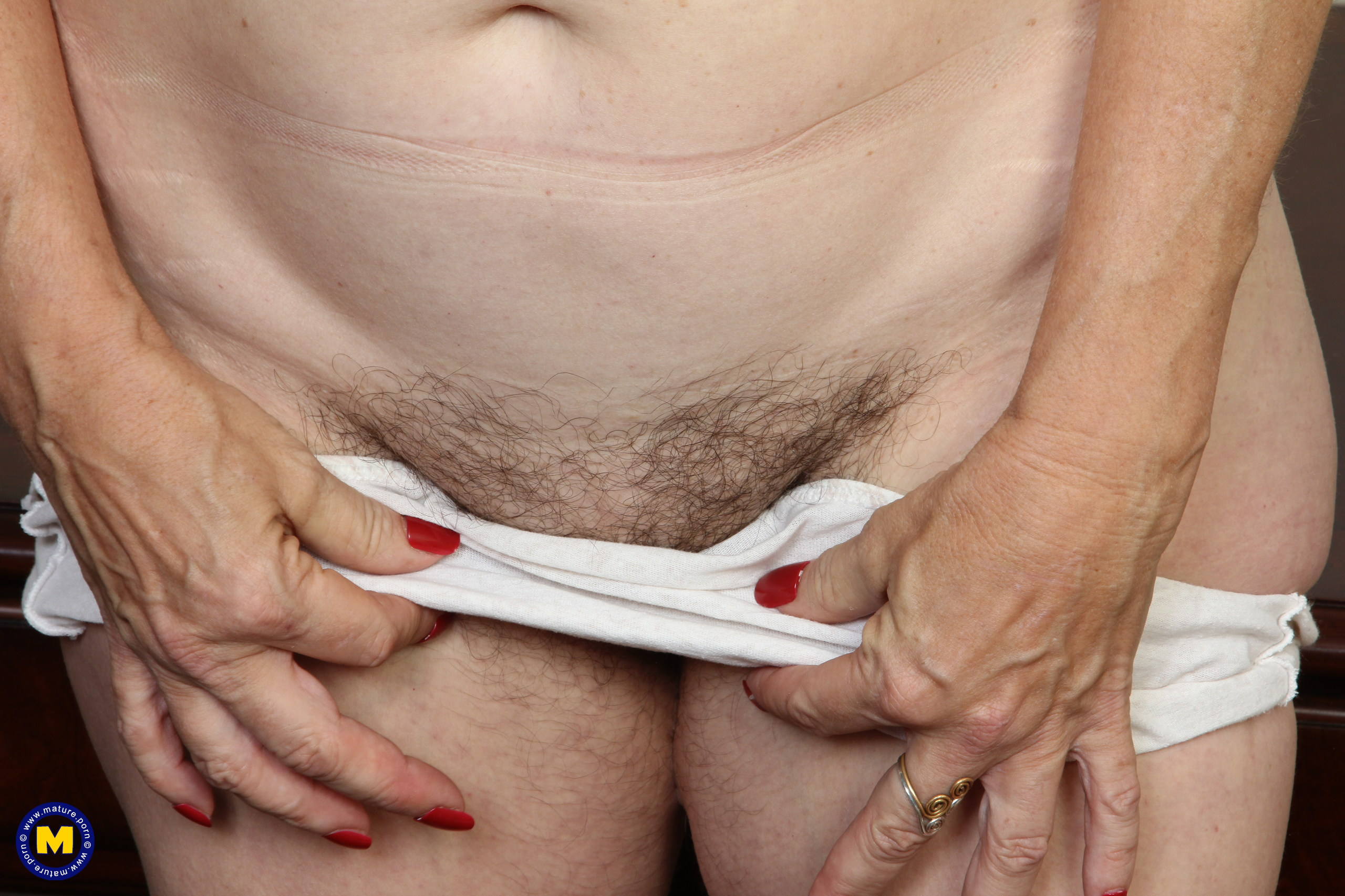 kinky american mature wife exposing her panties and wet slit inside her home office #1