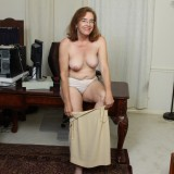 kinky american mature wife exposing her panties and wet slit inside her home office #12_thumb