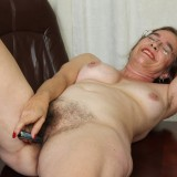 kinky american mature wife exposing her panties and wet slit inside her home office #11_thumb