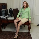kinky american mature wife exposing her panties and wet slit inside her home office #7_thumb