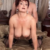 busty cougar Jessica hot gets her old body invaded #6_thumb
