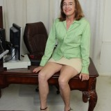 kinky american mature wife exposing her panties and wet slit inside her home office #13_thumb