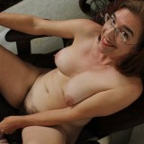 kinky american mature wife exposing her panties and wet slit inside her home office #5_thumb