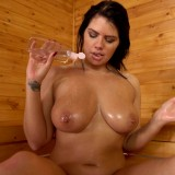 hot mature wife invites her stepson inside the sauna for a common wank #4_thumb