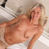 slender golden ager pamela, aged 62  toys her tighty hairy granny cunt with her fingers only #13_thumb