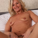 slender golden ager pamela, aged 62  toys her tighty hairy granny cunt with her fingers only #3_thumb