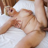 Granny Malya is intensive enjoying seeing her  vintage pussy fucked by Rob's young hard stick #6_thumb