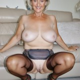 British swinger granny sugarbage fingering her ass and getting off at home #10_thumb