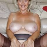 British swinger granny sugarbage fingering her ass and getting off at home #7_thumb