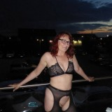 desperate redhead mature lonley in the big city flashing her beautiful cunt #4_thumb