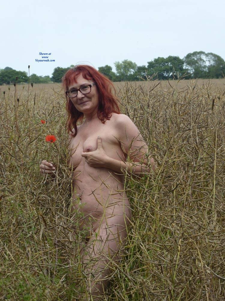 desperate redhead mature lonley in the big city flashing her beautiful cunt #1