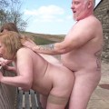 outdoor granny gangbang with two lovely fellating swinger ladies from wiskonsin