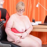 my busty ole office granny feels kinky today – bertha 59 begging for payroll raise #7_thumb