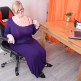 my busty ole office granny feels kinky today – bertha 59 begging for payroll raise #4_thumb
