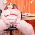 my busty ole office granny feels kinky today – bbw bertha 59 begging for payroll raise