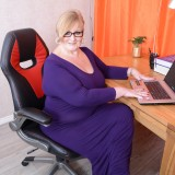 my busty ole office granny feels kinky today – bertha 59 begging for payroll raise #3_thumb
