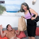 grey haired kinky 60 years old glamour granny doing some good to her young sugarboy #2_thumb