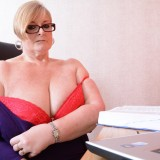 my busty ole office granny feels kinky today – bertha 59 begging for payroll raise #11_thumb
