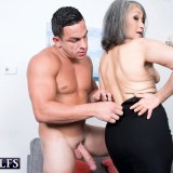 grey haired kinky 60 years old glamour granny doing some good to her young sugarboy #4_thumb