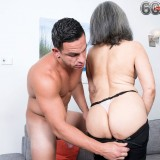 grey haired kinky 60 years old glamour granny doing some good to her young sugarboy #11_thumb