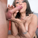 grey haired kinky 60 years old glamour granny doing some good to her young sugarboy #14_thumb