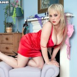busty mature english milf emma has jsut received her new red lingerie set by mailorder #13_thumb