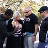 dogging granny invites a couple of random guys for a outdoors gangbang #12_thumb
