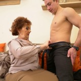 Old domineering grandmother deflowered inexperienced man and demands lots of kisses with tongue picture 13