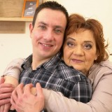 Old domineering grandmother deflowered inexperienced man and demands lots of kisses with tongue picture 5