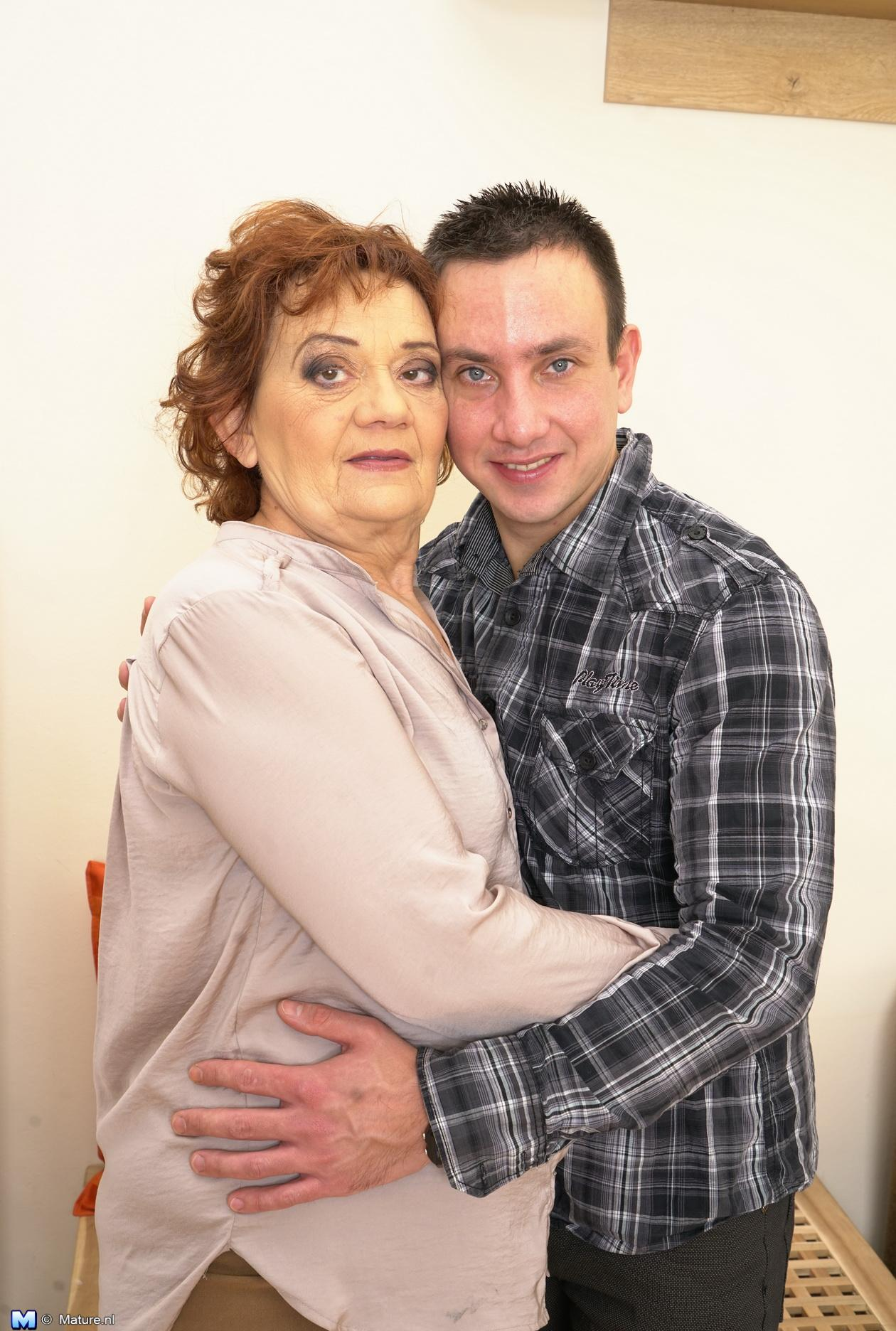 Old domineering grandmother deflowered inexperienced man and demands lots of kisses with tongue picture 2