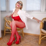 Crotchless body suit for flashing granny Linda  picture 5