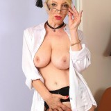 sexy anatomy lesson with granny Lucinda from Auntjudys picture 11