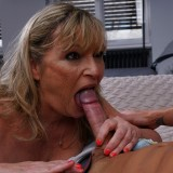 sexy flirt with grandma brings unexpected ejaculation in old vagina.  picture 9