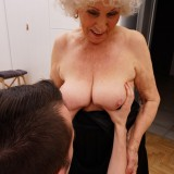 new shocking gallery from mature.nl - young romero diving deep inside grannys steaming old cunt picture 7