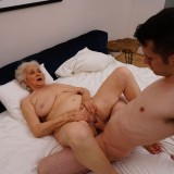 new shocking gallery from mature.nl - young romero diving deep inside grannys steaming old cunt picture 11