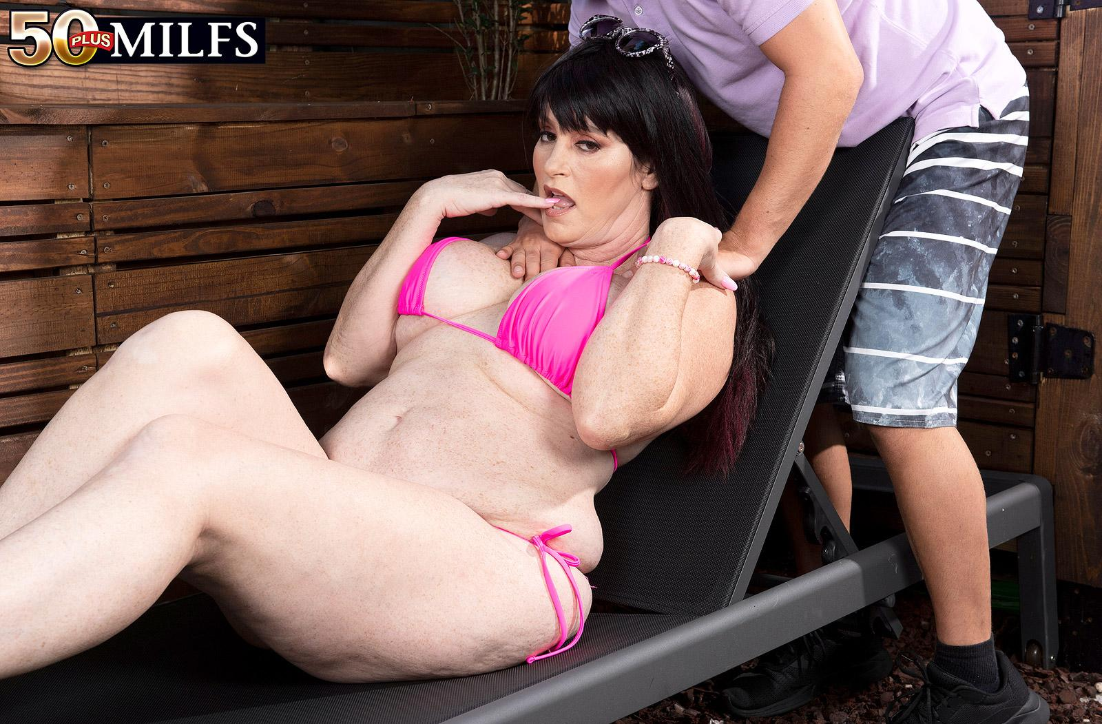 Sherry's step-son fucks her ass - Sherry Stunns and Nicky Rebel (81 Photos) - 50 Plus MILFs picture 2