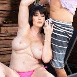 Sherry's step-son fucks her ass - Sherry Stunns and Nicky Rebel (81 Photos) - 50 Plus MILFs picture 10