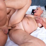 even if it might take a bit longer - 70years old granny will make this young guy cum hard and deep inside her old pussy picture 13