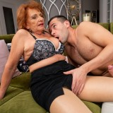 going down ruff and hard on grandmothers arse and pussy picture 7