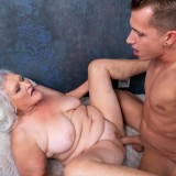 even if it might take a bit longer - 70years old granny will make this young guy cum hard and deep inside her old pussy picture 10