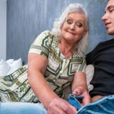 even if it might take a bit longer - 70years old granny will make this young guy cum hard and deep inside her old pussy picture 6