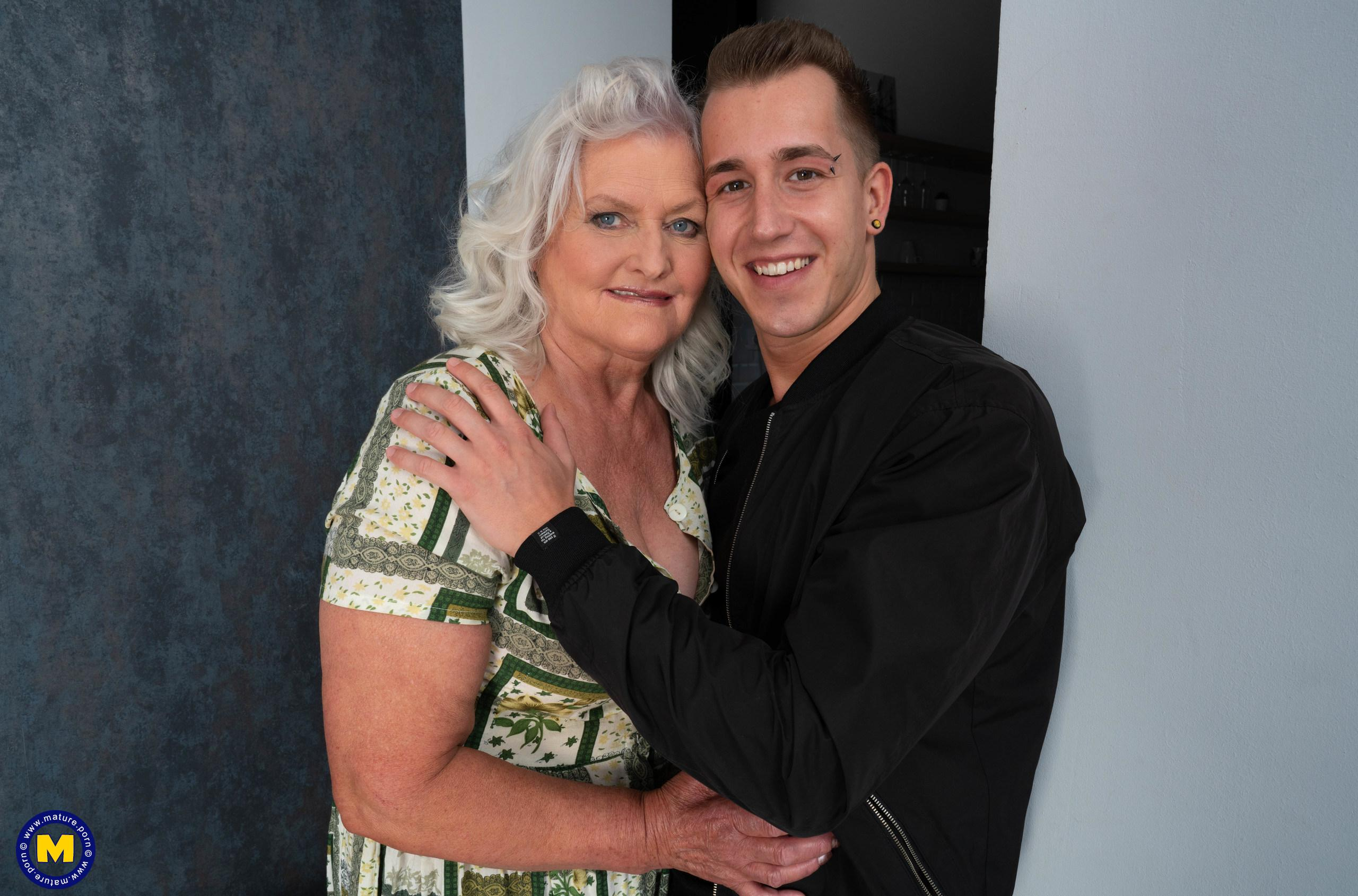 even if it might take a bit longer - 70years old granny will make this young guy cum hard and deep inside her old pussy picture 2