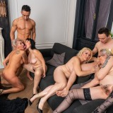 a overcrowded granny gangbang - 4 oldies sharing 2 young dicks picture 10