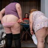 3 vaginas and no male arround - little girl sandwichbanged by two old grannies picture 6