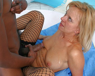 Nikki a divorced granny granny loves to try something new with a huge black dong