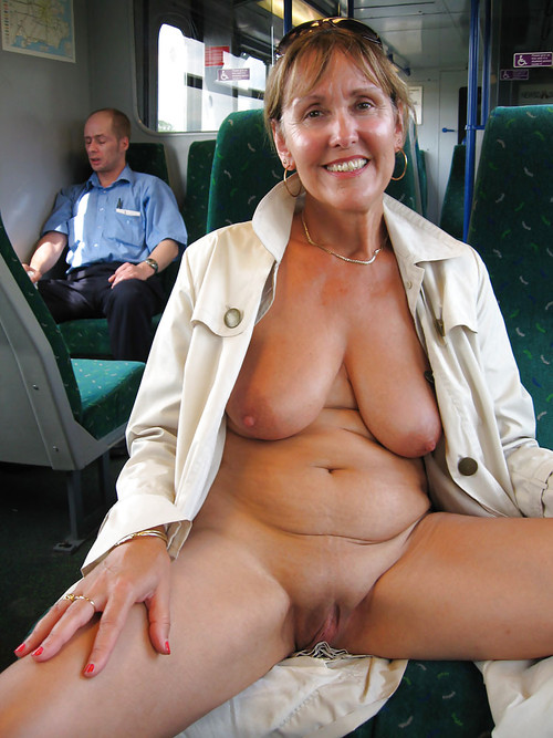 Kira a perverted granny showing off her old hot granny body in public