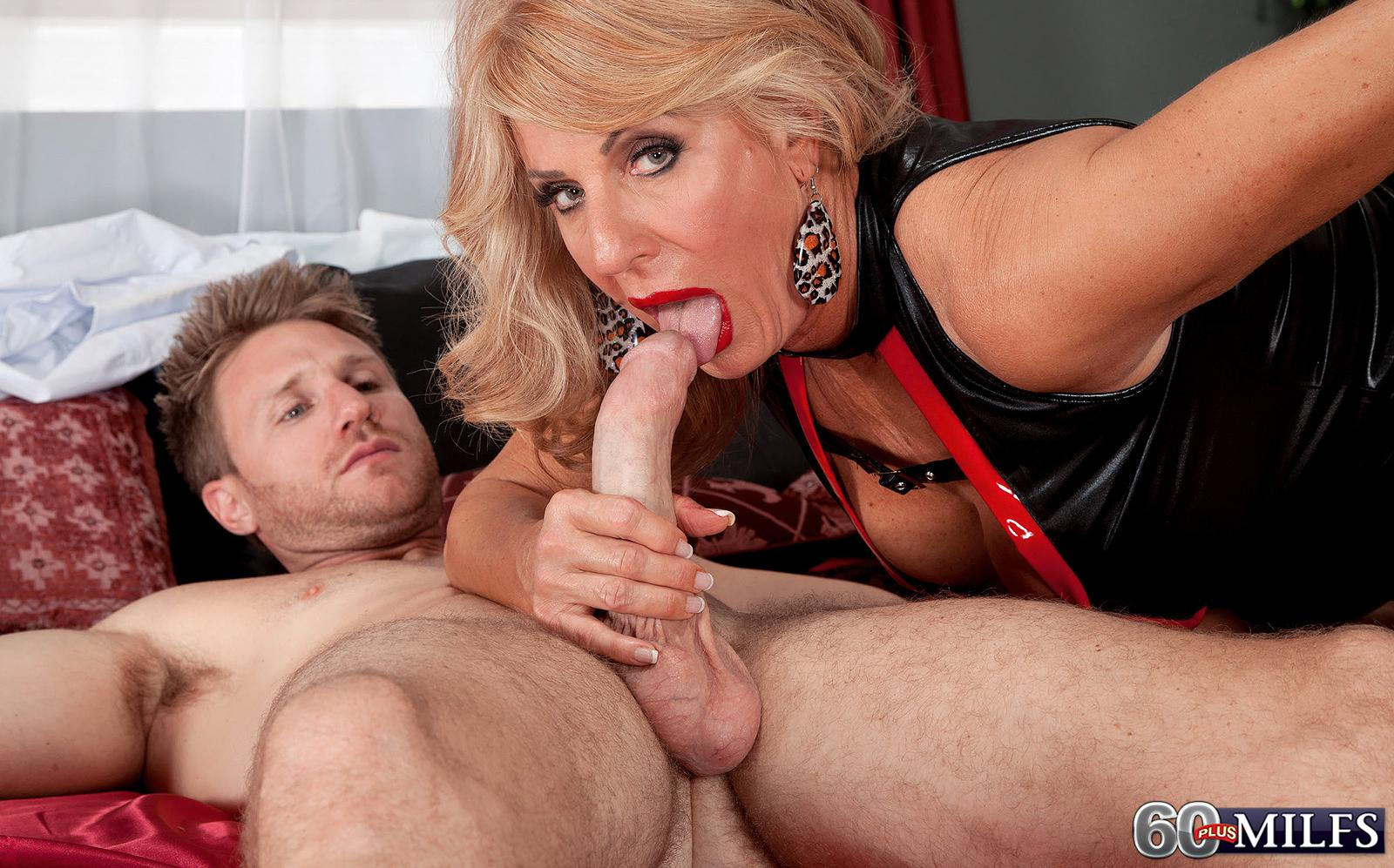 Logan a lustfull granny offers her horny old pussy to a young lucky guy