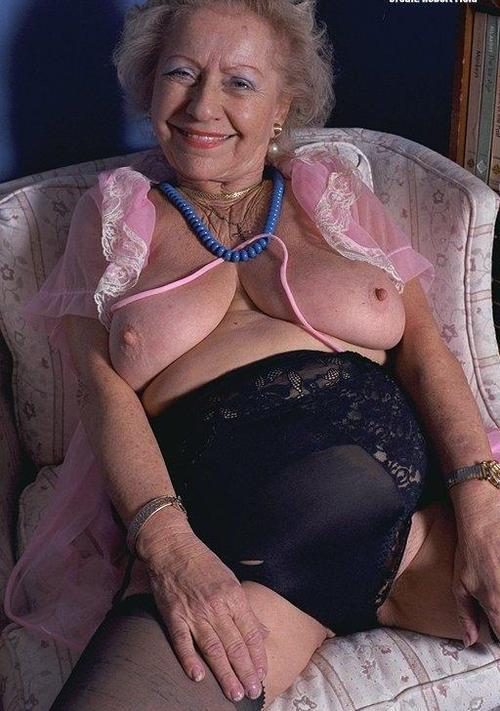 Madeleine ,a  granny who is not shy to do  french kissing